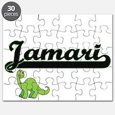 Jamari Classic Name Design with Dinosaur Puzzle