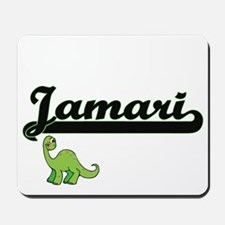 Jamari Classic Name Design with Dinosaur Mousepad