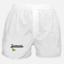 Jamari Classic Name Design with Dinos Boxer Shorts