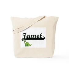 Jamel Classic Name Design with Dinosaur Tote Bag