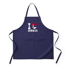I Love Serbia Apron (dark)