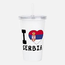 I Love Serbia Acrylic Double-wall Tumbler