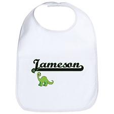 Jameson Classic Name Design with Dinosaur Bib