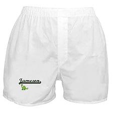 Jameson Classic Name Design with Dino Boxer Shorts