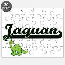 Jaquan Classic Name Design with Dinosaur Puzzle