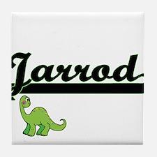 Jarrod Classic Name Design with Dinos Tile Coaster
