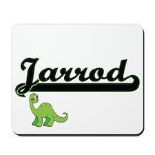 Jarrod Classic Name Design with Dinosaur Mousepad
