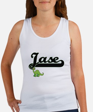 Jase Classic Name Design with Dinosaur Tank Top