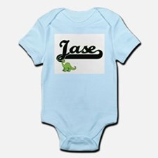 Jase Classic Name Design with Dinosaur Body Suit