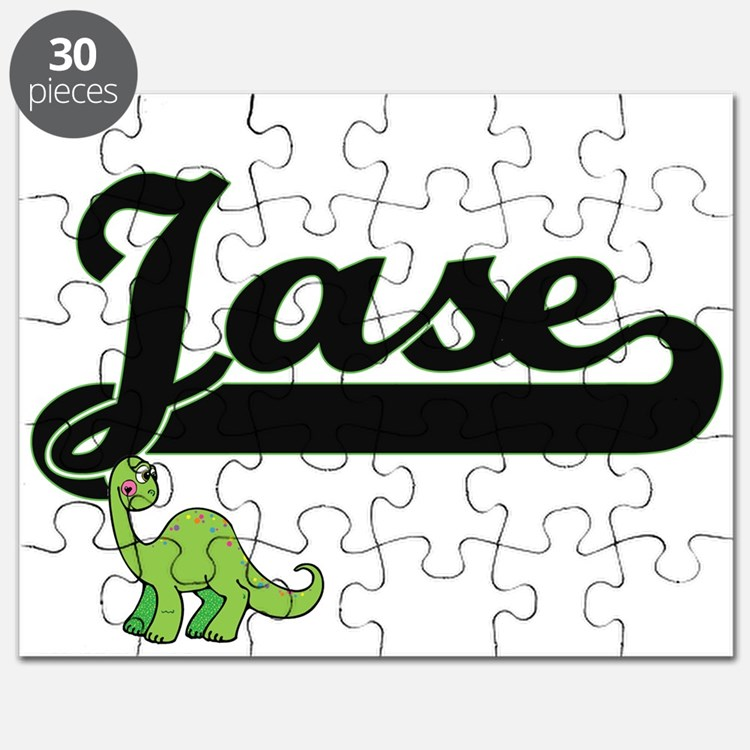 Jase Classic Name Design with Dinosaur Puzzle