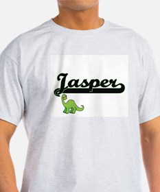 Jasper Classic Name Design with Dinosaur T-Shirt