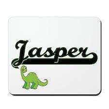 Jasper Classic Name Design with Dinosaur Mousepad