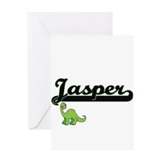 Jasper Classic Name Design with Din Greeting Cards