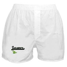 Jasper Classic Name Design with Dinos Boxer Shorts