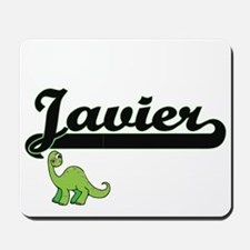 Javier Classic Name Design with Dinosaur Mousepad