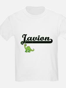 Javion Classic Name Design with Dinosaur T-Shirt