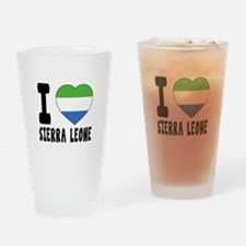 I Love Sierra Leone Drinking Glass