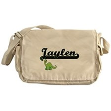 Jaylen Classic Name Design with Dino Messenger Bag