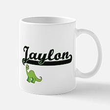 Jaylon Classic Name Design with Dinosaur Mugs