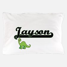 Jayson Classic Name Design with Dinosa Pillow Case