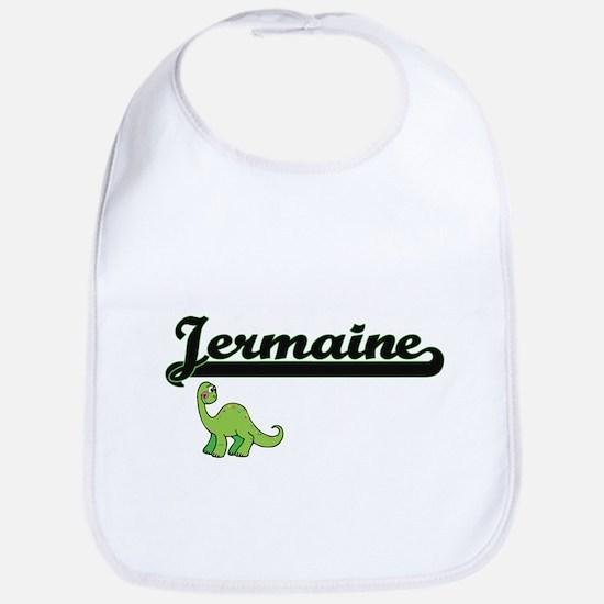 Jermaine Classic Name Design with Dinosaur Bib