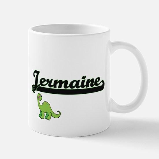 Jermaine Classic Name Design with Dinosaur Mugs