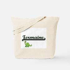 Jermaine Classic Name Design with Dinosau Tote Bag