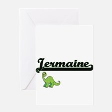 Jermaine Classic Name Design with D Greeting Cards