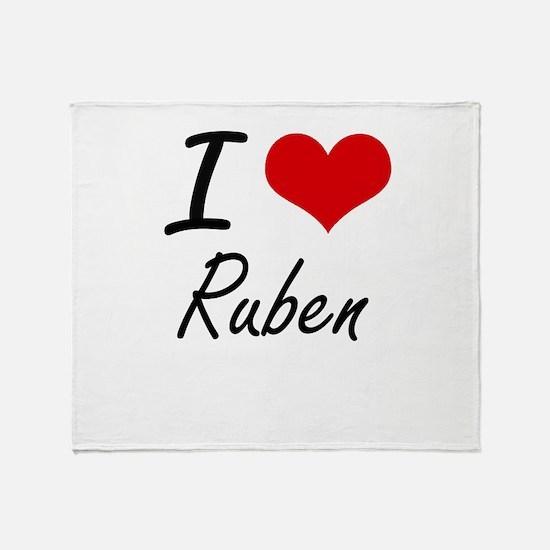 I Love Ruben Throw Blanket