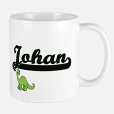 Johan Classic Name Design with Dinosaur Mugs