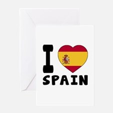 I Love Spain Greeting Card