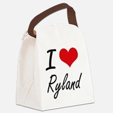 I Love Ryland Canvas Lunch Bag