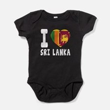 I Love Sri Lanka Baby Bodysuit