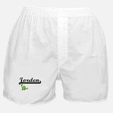 Jorden Classic Name Design with Dinos Boxer Shorts