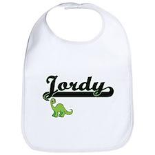Jordy Classic Name Design with Dinosaur Bib