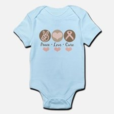 Peace Love Cure Pink Ribbon Infant Onesie Bodysuit