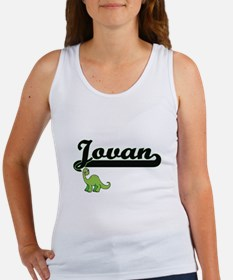 Jovan Classic Name Design with Dinosaur Tank Top
