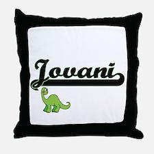 Jovani Classic Name Design with Dinos Throw Pillow