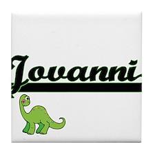 Jovanni Classic Name Design with Dino Tile Coaster