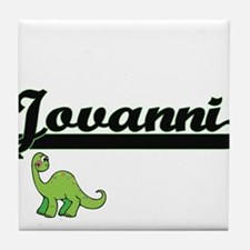 Jovanni Classic Name Design with Dino Tile Coaster