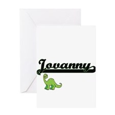 Jovanny Classic Name Design with Di Greeting Cards