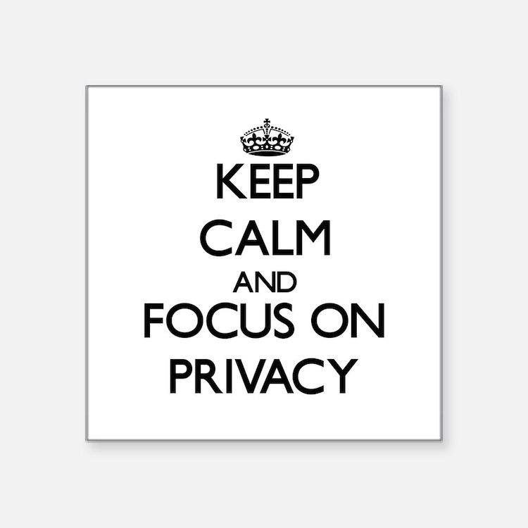 """Cute Privacy Square Sticker 3"""" x 3"""""""