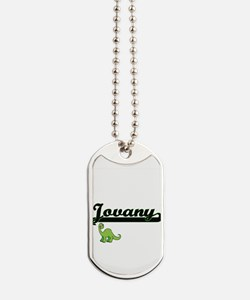 Jovany Classic Name Design with Dinosaur Dog Tags