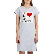 I Love Savion Women's Nightshirt