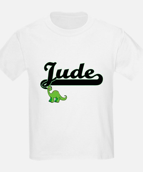 Jude Classic Name Design with Dinosaur T-Shirt