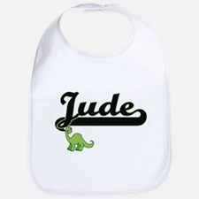 Jude Classic Name Design with Dinosaur Bib