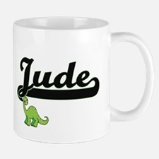 Jude Classic Name Design with Dinosaur Mugs