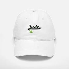 Jude Classic Name Design with Dinosaur Baseball Baseball Cap