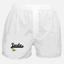 Jude Classic Name Design with Dinosau Boxer Shorts