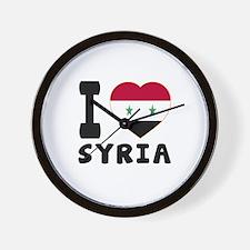 I Love Syria Wall Clock